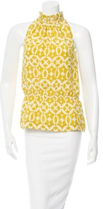 Tory Burch Olive yellow and cream Halter Top