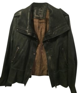 Andrew Marc Green Leather Jacket