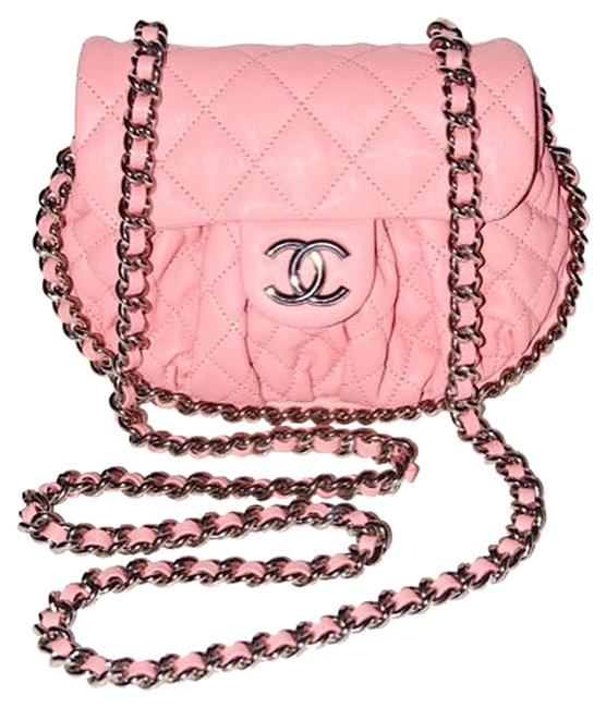 Item - Chain Around - In Pink Washed Lambskin Messenger Bag