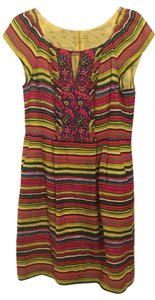 Nanette Lepore short dress yellow, green, pink, red, blue Colorful Summery Linen on Tradesy