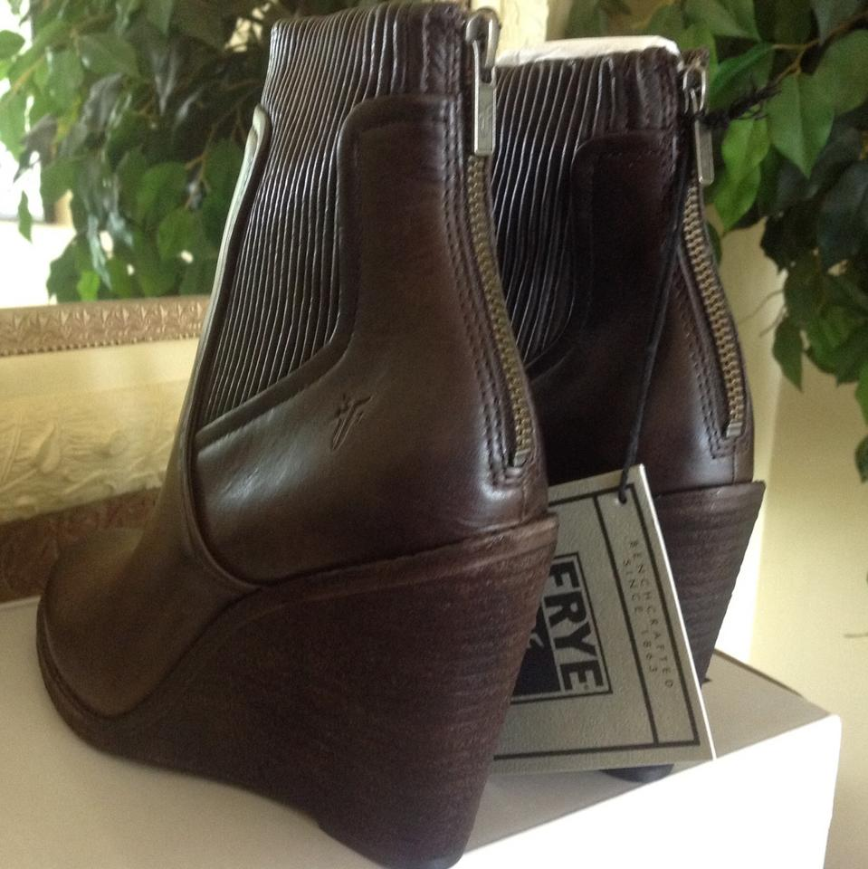 e867ed946bd0 Frye Slate Leather Carrie Scrunch Boots Booties Size US 8.5 Regular ...