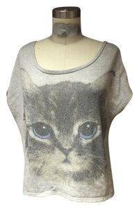 Urban Outfitters Kitten Face Sliced Grunge 90s Sweatshirt T Shirt Cat Print