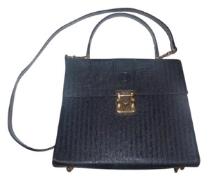 "Fendi Two-way Style Hard Shape Bold Gold Hardware Excellent Vintage Removable 20"" Strap Cross Body Bag"