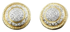 Rothschild Rothschild's 240 Diamonds and 18K Yellow Gold Earrings