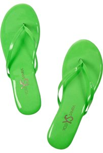 Yosi Samra Green Sandals