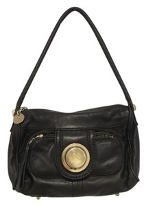 Gustto Satchel Leather Gold Hobo Bag