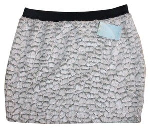 Urban Outfitters Faux Feather Stretchy Mini Skirt PINK