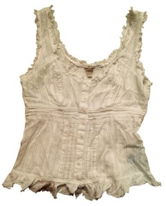 Guess Fun Sleeveless Shirt Top White