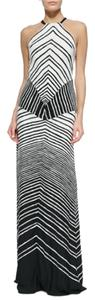 Black/Bone Maxi Dress by Halston