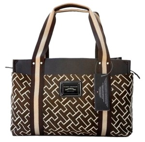 Tommy Hilfiger Iconic Tote Satchel in Brown