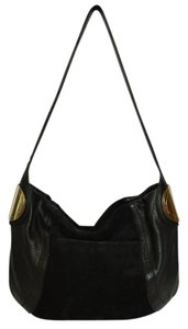 B. Makowsky Suede Leather Hobo Bag