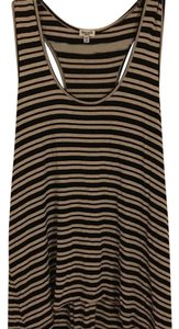 Splendid Top Black/Tan striped