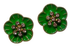 Betsey Johnson Betsey Johnson Flower Stud Earrings Green J2819