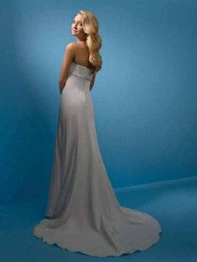 Alfred Angelo Ivory Satin 2106 Destination Wedding Dress Size 14 (L)