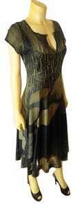 green Maxi Dress by Komarov Size Large Mid Length