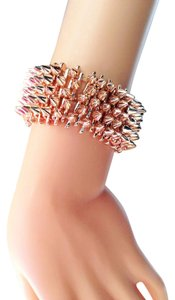 Rose gold spike bracelet