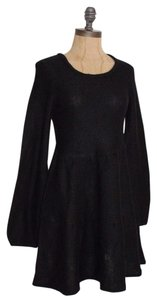 RAZZLE DAZZLE short dress BLACK Knit Gothic Sweater on Tradesy