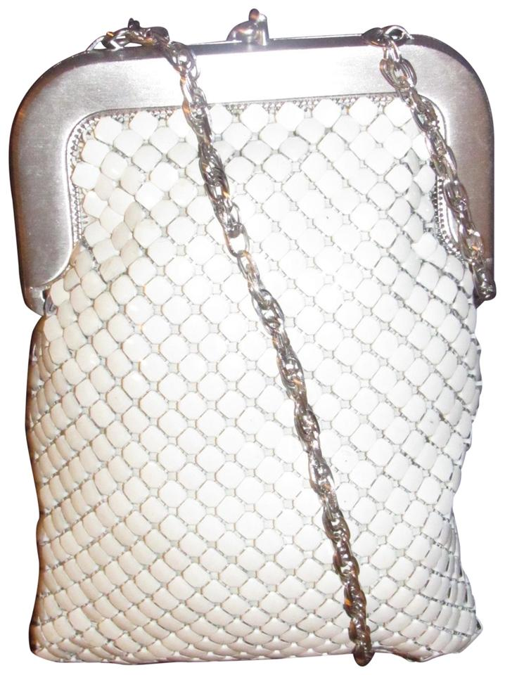 4237639b43 Whiting   Davis Mint Vintage Early-mid 20th Cen. Enamel Whiting davis white  mesh chainmaille ...