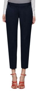Theory Testra Stretch Capri/Cropped Pants Navy Blue