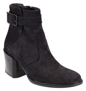 Helmut Lang Suede Eclectic Rocker Charcoal Boots