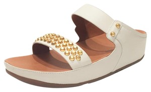 FitFlop Thong Leather White Sandals