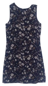 Old Navy short dress Navy Blue/Floral on Tradesy