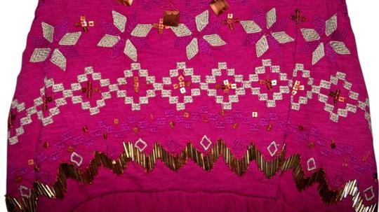 c23b0f773226 Free People Pink Beaded Gypsy Size Small Top durable modeling - www ...