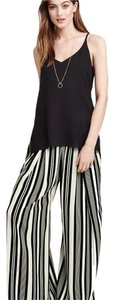 H&M Stiped Wide Leg Wide Leg Pants Black and white