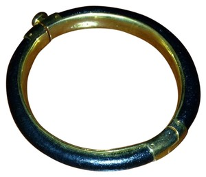 Coach Black Leather Coach Bangle