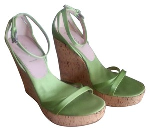 Prada Wedges Sandals Green Platforms