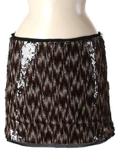 Rachel Roy Sequin Chevron Mini Skirt