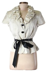 Adrianna Papell Ruffle Belted Jacket