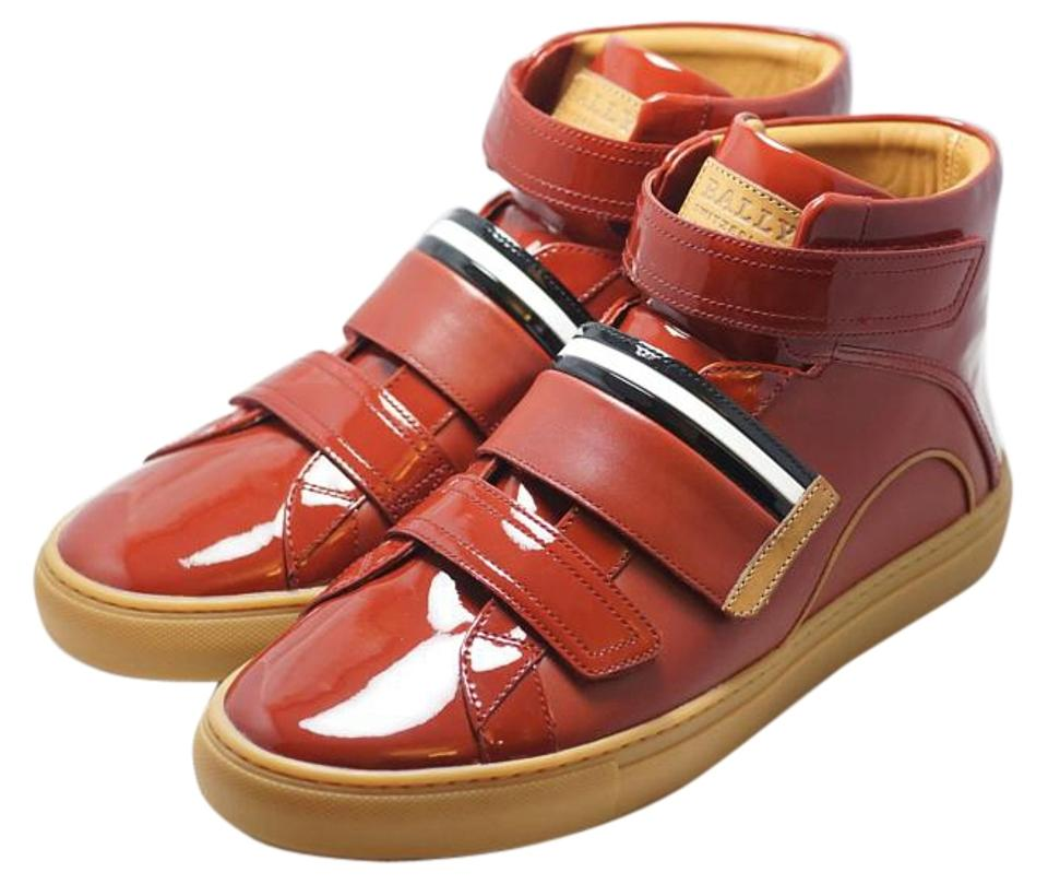 ed0712ff29c2f Bally Red Men s Herick Calf Leather Hightop Sneaker Sneakers Size US ...