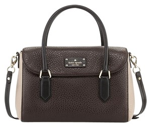 Kate Spade Satchel in ebony/warm putty/black