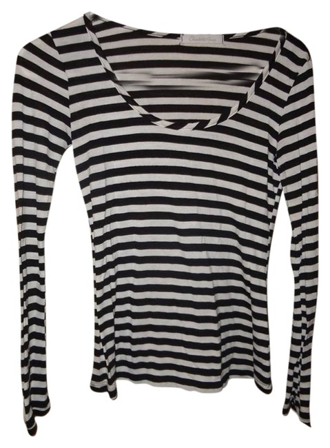 Charlotte Russe T Shirt black and white striped