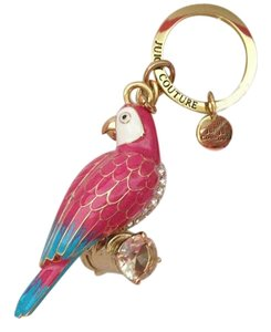 Juicy Couture Juicy Couture Tropical Parrot Keychain CRYSTAL LARGE