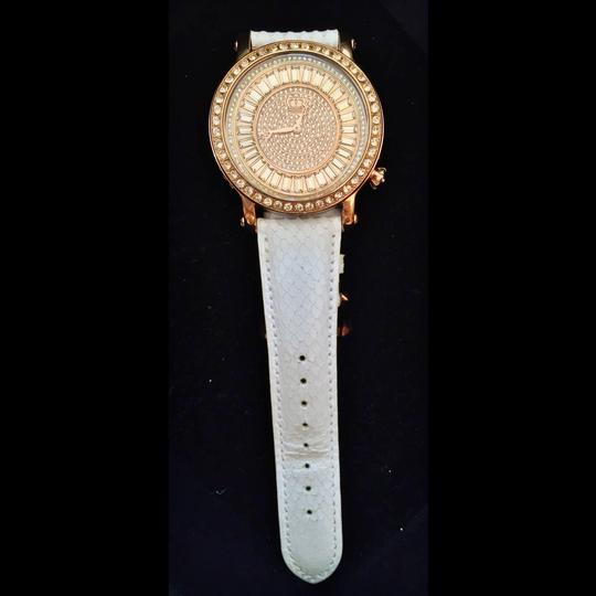 Juicy Couture *reduced* Queen Couture Rose Gold Crystal w/ Snake Embossed Strap