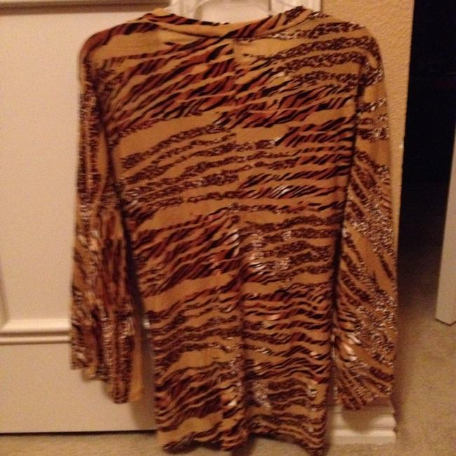 Other Top Animal Print Black Gold Brown