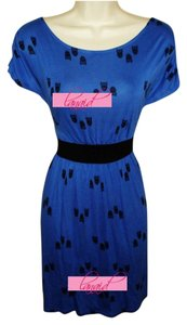 One Clothing short dress Blue Animal Fit And Flare Fit & Flare Flowy Boat Neck on Tradesy