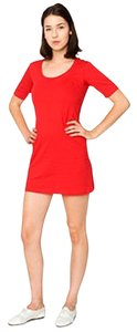 American Apparel short dress Red Aa Tee Long Top Jersey on Tradesy