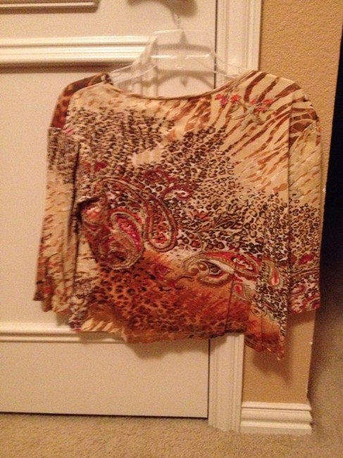 Other T Shirt Red Brown Gold