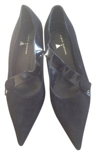 Fabio Rusconi Kitten Heels Black Leather Pumps
