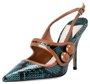 Miu Miu Green / Brown Pumps