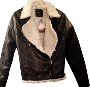 Other Aviator Faux Vegan Fur Faux Fur Black Jacket