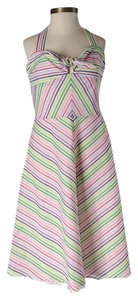 Trina Turk short dress Striped Halter on Tradesy