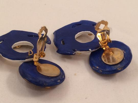 Jeff Lieb JEFF LIEB Nautical Vintage Jewelry Spring 15 Trend Anchor Life Preserver Clip on Earring Resort Golden Novelty Whimsical