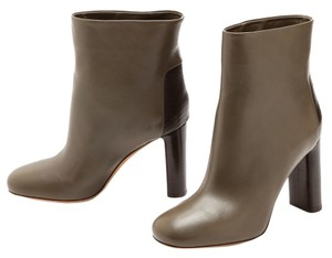 Vince Paige Stacked Heel Brown Leather Boots