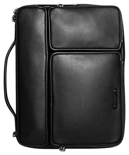 Coach COACH~THOMPSON BLACK LEATHER IPAD TABLET KINDLE ORGANIZER TECH CASE~68280