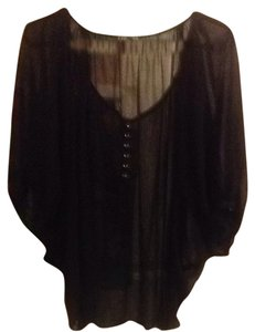 Express Top Sheer Black