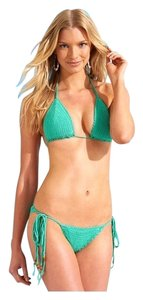 Beauty & the Beach Beauty & The Beach Daydream Believer Crochet Bikini in Mojito, Medium